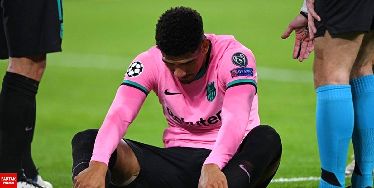 مدت دوری مدافع مصدوم بارسلونا مشخص شد